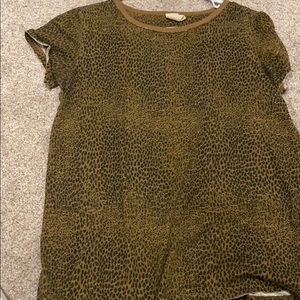 Free people we the free cheetah leopard top